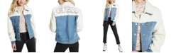 GUESS Faux-Sherpa Denim Jacket