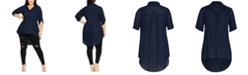 City Chic Trendy Plus Size High-Low Shirt