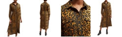 French Connection Leopard-Print Shirtdress