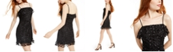 Trixxi Juniors' Sequined Flounce Dress