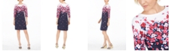 Karen Scott Petite Chloe Floral-Print Boat-Neck Dress, Created For Macy's