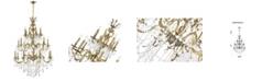 CWI Lighting Brass 24 Light Chandelier