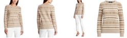 Lauren Ralph Lauren Petite Fair Isle Crewneck Sweater