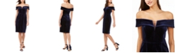 Vince Camuto Strapless Velvet Dress