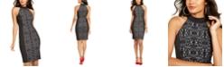 Thalia Sodi Mockneck Sheath Dress, Created For Macy's