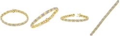 Macy's Diamond Link Bracelet (1/4 ct. t.w.) in Gold-Plated Sterling Silver