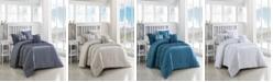 Geneva Home Fashion Navier 6-Piece Ruched Queen Bedding Set
