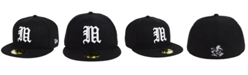 New Era Miami Hurricanes Core Black on Black 59FIFTY Fitted Cap