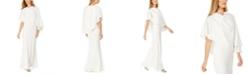 Calvin Klein Draped Capelet Gown