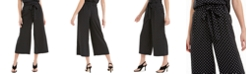 Maison Jules Wide-Leg Cropped Capri Pants, Created for Macy's