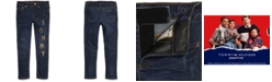 Tommy Hilfiger Big Girls Skinny Jeans with Adjustable Waist & Magnetic Buttons