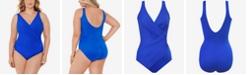 Miraclesuit Plus Size Oceanus Allover Slimming One-Piece Swimsuit