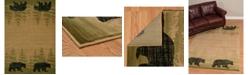 "Asbury Looms Designer Contours Cem Wooded Bear 511 31226 28C Beige 2'7"" x 7'4"" Runner Rug"