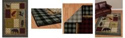 """Asbury Looms Designer Contours Cem Acadia Park 511 31775 69 Multi 5'3"""" x 7'6"""" Area Rug"""