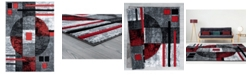 "Asbury Looms Bristol Epsilon 2050 10130 35C Red 2'7"" x 4'2"" Area Rug"