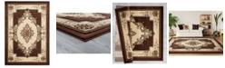 "Asbury Looms Bristol Fallon 2050 10551 24 Chocolate 1'10"" x 2'8"" Area Rug"