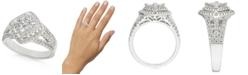 Macy's Diamond Princess Cluster Halo Ring (1 ct. t.w.) in 14k White Gold