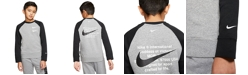 Nike Big Boys Sportswear Swoosh Crew Sweatshirt