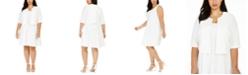 Robbie Bee Plus Size Jacket & Fit & Flare Dress
