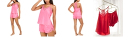 INC International Concepts INC Lace-Trim Tank Top & Shorts Pajama Set, Created For Macy's