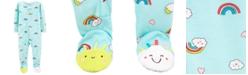 Carter's Baby Girls 1-Pc. Rainbow-Print Footed Pajamas