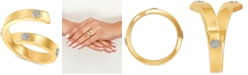 Italian Gold Rivet Coil Statement Ring in 10k Gold & White Gold