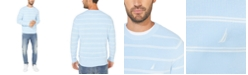 Nautica Men's Navtech Crewneck Striped Sweater