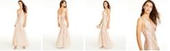 Teeze Me Juniors' Sequined Mermaid Gown