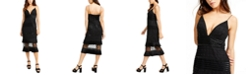 Aidan by Aidan Mattox Beaded Midi Dress