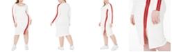 Lala Anthony Trendy Plus Size Logo-Tape Bodycon Dress