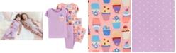 Carter's Toddler Girls 4-Pc. Cupcake Cotton Pajamas Set