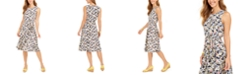 Charter Club Printed Midi Knit Dress, Created For Macy's