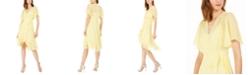 Calvin Klein Petite High-Low Chiffon Dress