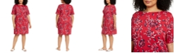 Karen Scott Plus Size Floral-Print Dress, Created for Macy's