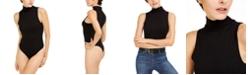 Bar III Mock-Neck Bodysuit, Created for Macy's