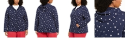 Karen Scott Plus Size Star-Print Hoodie, Created for Macy's