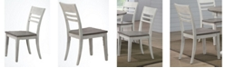ICONIC FURNITURE Transitional Back Side Chair, Set of 2