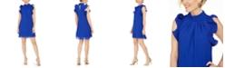 Vince Camuto High-Neck Ruffle-Sleeve Shift Dress