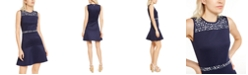 Michael Kors Floral-Embellished Mini Dress, Regular & Petite