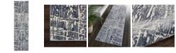 "Long Street Looms City Style CIS01 Slate 2'2"" x 7'6"" Runner Rug"