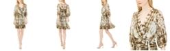 Calvin Klein Petite Tie-Dyed Surplice Dress