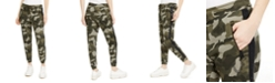 True Religion Camo-Print Rhinestone-Trim Jogging Pants