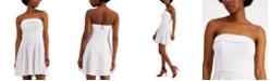City Studios Juniors' Strapless Lace Fit & Flare Dress
