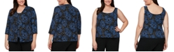 Alex Evenings Plus Size Printed Jacket & Top Twinset