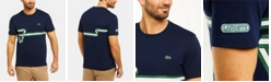 Lacoste Men's Regular Fit Short Sleeve Cotton T-Shirt with Heritage Ribbon Graphic