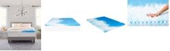 "Comfort Revolution 3"" Reversible Convoluted Memory Foam Mattress Topper, Twin XL"