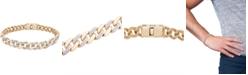 Macy's Men's Diamond Link Chain Bracelet (1/2 ct. t.w.) in 10k Gold