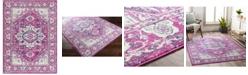 "Abbie & Allie Rugs Floransa FSA-2318 Fuchsia 5'3"" x 7'1"" Area Rug"