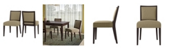 Handy Living Brandy Upholstered Armless Dining Chair Set of 2