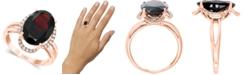 LALI Jewels Garnet (7-5/8 ct. t.w.) & Diamond (1/6 ct. t.w.) Statement Ring in 14k Rose Gold